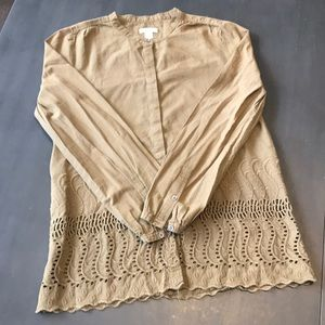 J. Crew tobacco color blouse. Size 6
